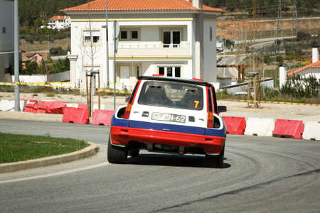 renault 5: CASTELO BRANCO, PORTUGAL - MARCH 10: Anibal Rolo drives a Renault 5 Turbo during Rally Castelo Branco 2012, integrated on Open Championship in Castelo Branco, Portugal on March 10, 2012.