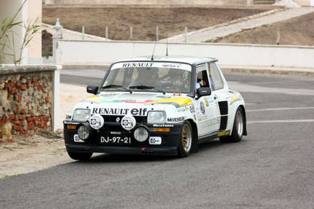 renault 5: FOZ DO ARELHO, PORTUGAL - MAY 13: Rui Machado drives a Renault 5 Turbo during Rally Sprint Foz do Arelho 2012, in Foz do Arelho, Portugal on May 13, 2012
