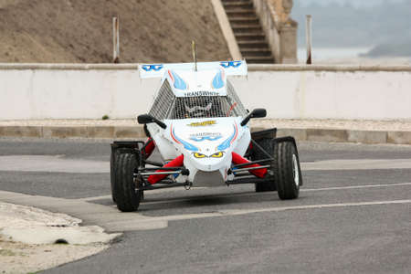 hillclimb: FOZ DO ARELHO, PORTUGAL - MAY 13: Unknow Driver drives a Rally Cross Prototype during Rally Sprint Foz do Arelho 2012, in Foz do Arelho, Portugal on May 13, 2012