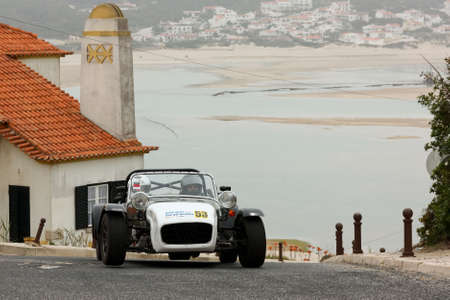 hillclimb: FOZ DO ARELHO, PORTUGAL - MAY 13: Bruno Coutinho drives a Catheram Seven during Rally Sprint Foz do Arelho 2012, in Foz do Arelho, Portugal on May 13, 2012 Editorial