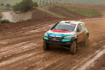 proto: PORTALEGRE, PORTUGAL - NOVEMBER 3: Nuno Matos drives a Opel Astra Proto in BAJA 500, integrated on FIA World Cup for Cross-Country Rallies, in Portalegre, Portugal on November 3, 2012.