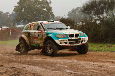 crosscountry: PORTALEGRE, PORTUGAL - NOVEMBER 3: Ricardo Porem drives a Bomcar S1 Proto in BAJA 500, integrated on FIA World Cup for Cross-Country Rallies, in Portalegre, Portugal on November 3, 2012.