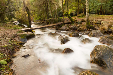 Long exposure of an valley river in Portugal, during this autumn photo