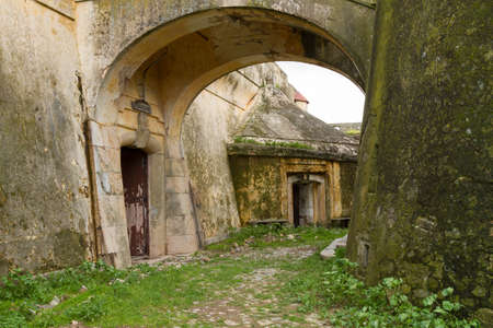 Building details of an abandoned fortress in Portugal Stock Photo