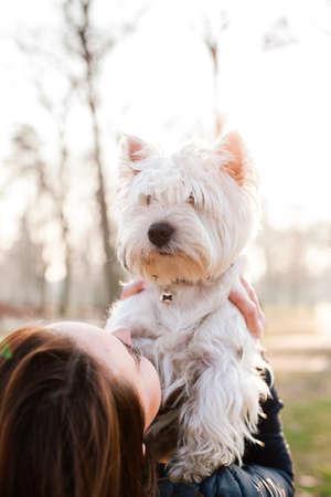 dogie: Girl holding her dog