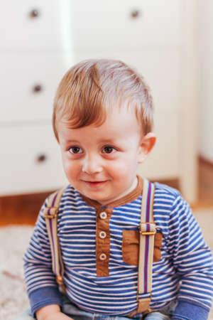 Portrait of cute little smiling boy
