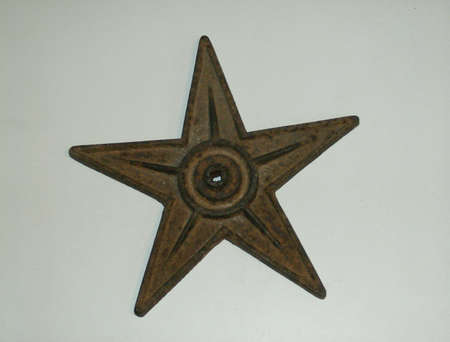 five star: A Rusty Antique Iron Five Pointed Star