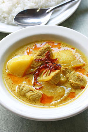 beef curry: yellow curry , thai food Stock Photo