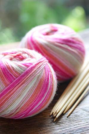 yarn: knitting sock yarn balls with noodles