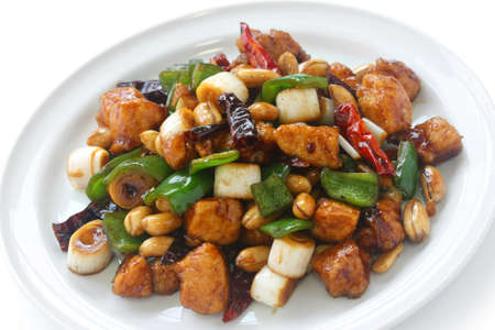 to stir up: kung pao chicken, chinese food Stock Photo