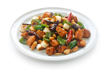 kung pao chicken, chinese food Stock Photo