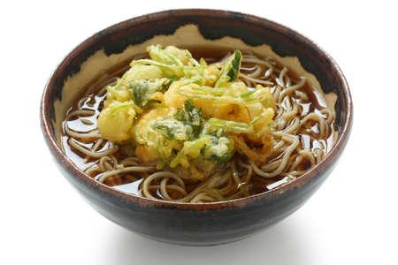 soba: kakiage soba , japanese noodle dish