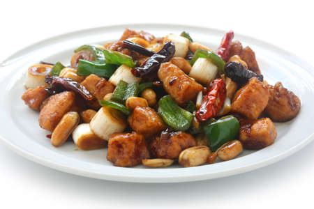 pao: kung pao chicken, chinese food Stock Photo