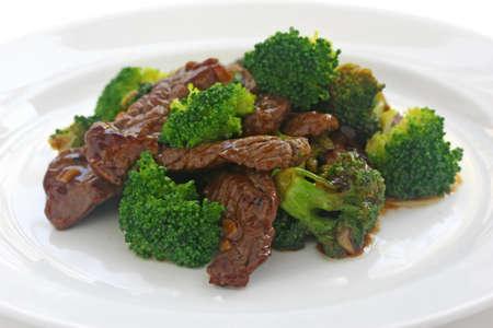 plat chinois: boeuf brocoli, la cuisine chinoise Banque d'images