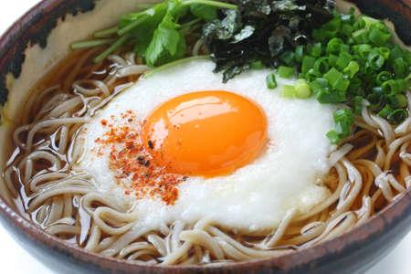 soba: tsukimi tororo soba, japanese food