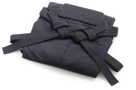 折られた合気道袴、均一な日本の武道