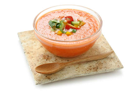 gazpacho , spanish tomato based cold vegetable soup Stock Photo - 10514460