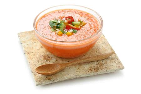 gazpacho , spanish tomato based cold vegetable soup Stock Photo - 10514460