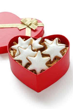Zimtstern , homemade christmas cookies photo
