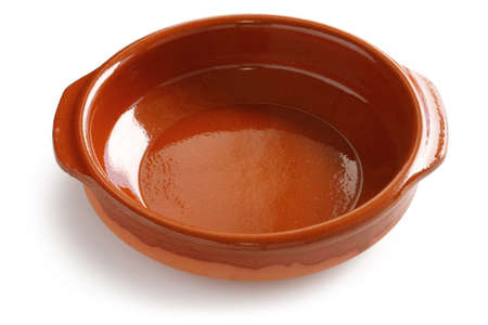 cazuela: cazuela de barro , spanish earthenware casserole