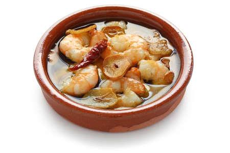 gambas al ajillo , garlic prawns , spanish tapas  Stock Photo - 10597081