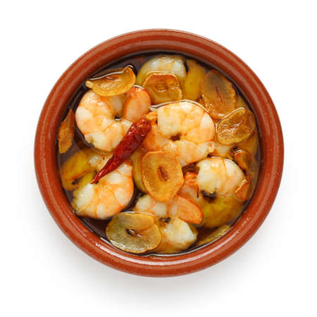 gambas al ajillo , garlic prawns , spanish tapas Stock Photo - 10597080