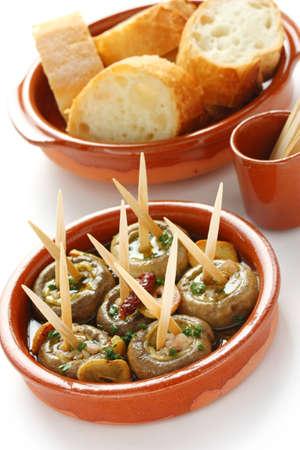 champinones al ajillo , garlic mushrooms , spanish tapas dish Stock Photo - 10656947