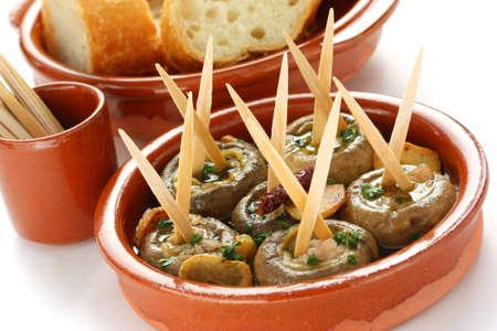 champinones al ajillo , garlic mushrooms , spanish tapas dish Stock Photo - 10656949