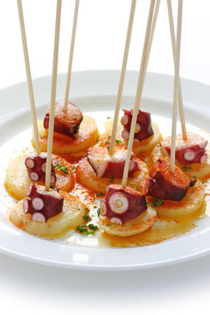 octopus galician style (pulpo a la gallega) , spanish tapas dish Stock Photo - 10657002