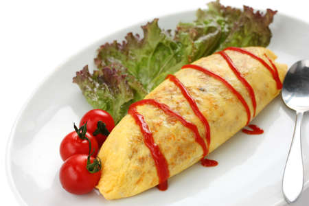 omelet: omelette rice,omurice, japanese food