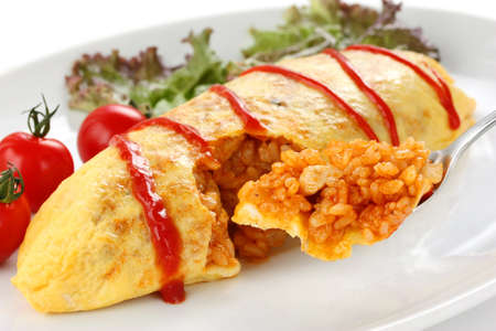omelette rice,omurice, japanese food