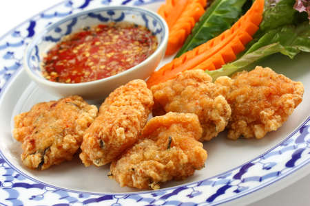 thot man kung , shrimp cakes , thai cuisine  photo