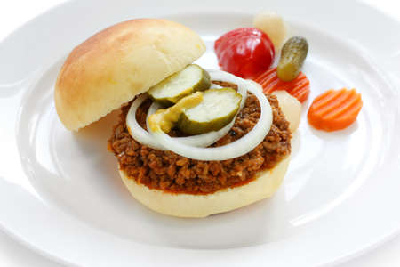 sloppy: sloppy joe , american ground beef sandwich