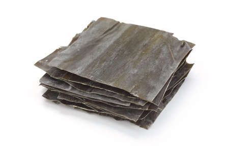 dashi kombu, dried kelp, japanese soup stock ingredient  Stock Photo