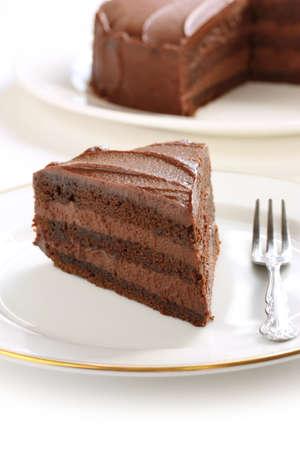 chocolate slice: chocolate cake