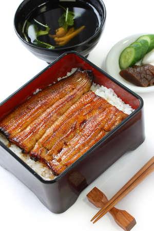 broiled eel on rice,unaju, japanese unagi cuisine photo