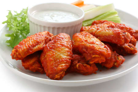buffalo: buffalo chicken wings with blue cheese dip Stock Photo