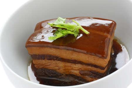 red braised: chinese braised pork belly, dongpo pork