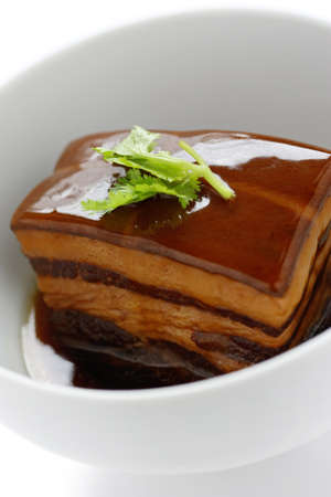 red braised: chinese braised pork belly, dongpo pork