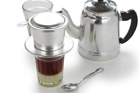 ベトナム風醸造コーヒー 写真素材