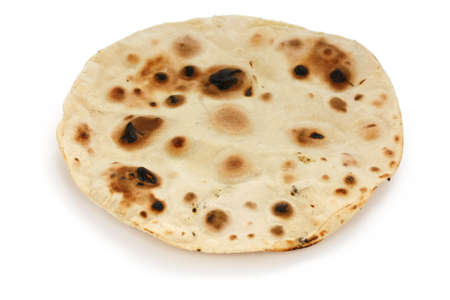 unleavened: chapati , indian unleavened flatbread Stock Photo