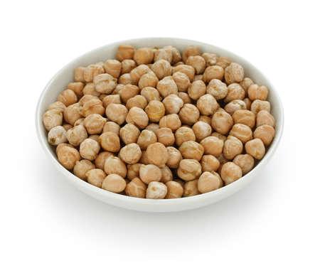 garbanzo bean: chana, chickpea, garbanzo bean in a small dish Stock Photo