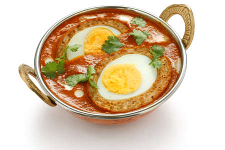 nargisi kofta입니다 카레, 인도 요리 스톡 콘텐츠