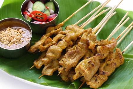 beef satay, pork satay, thai cuisine