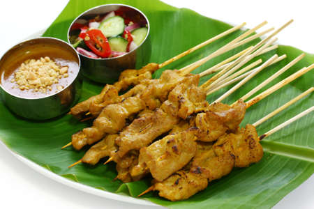 beef satay, pork satay, thai cuisine photo
