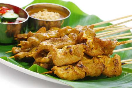 satay de carne, satay de carne de cerdo, cocina tailandesa