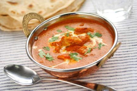 naan: butter chicken , indian cuisine