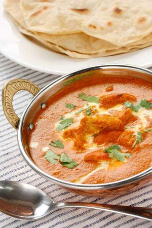 masala: pollo de la mantequilla, la cocina india Foto de archivo