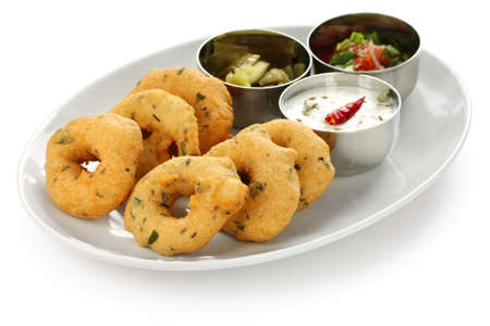 vada is donut, made with urad dal flour, indian snack food
