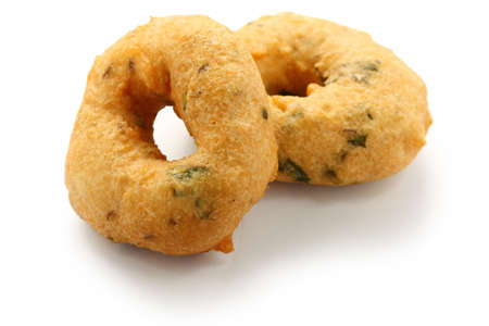 the deep south: vada is donut, made with urad dal flour, indian snack food